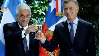 Piñera y Macri, en su último encuentro en Buenos Aires el pasado 26 de abril.