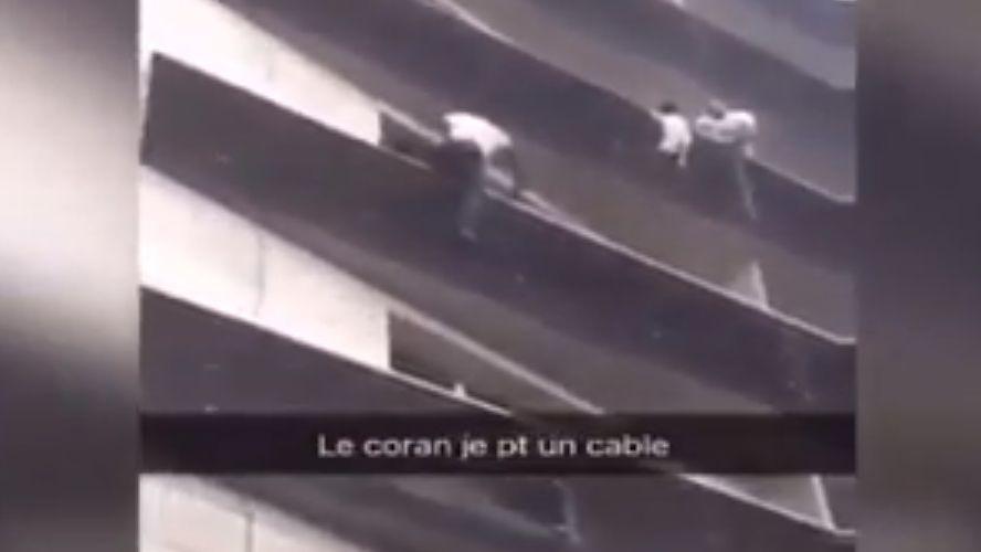 VIDEO impactante: joven trepó cuatro pisos para rescatar a niño en París