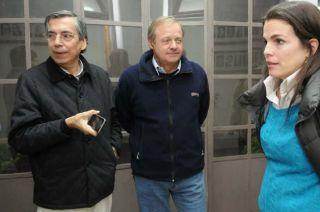 Richard Battagion, Diego Arenas y Josefina Canale.