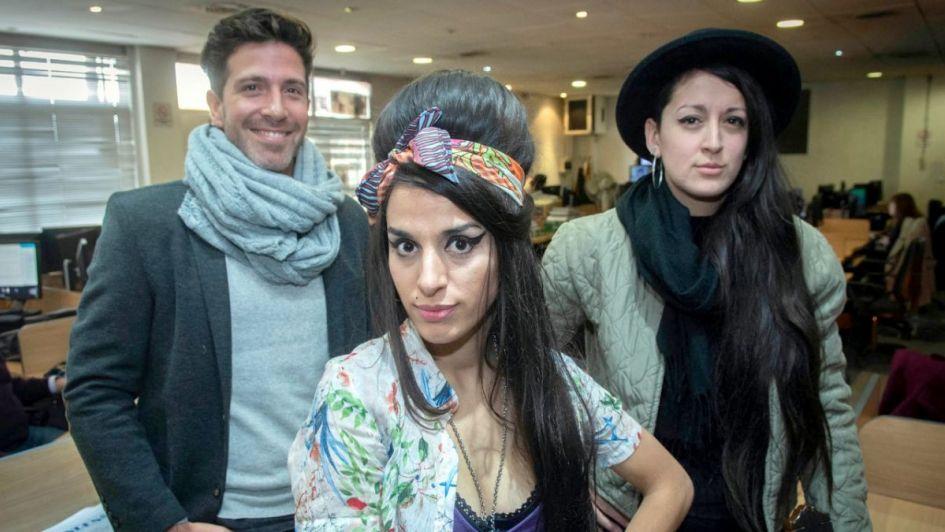 #VivoLA: el tributo a Amy Winehouse pasó por la redacción de Los Andes