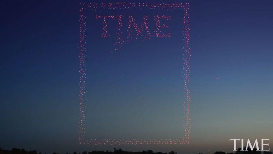 La espectacular portada de la revista Time realizada con 958 drones