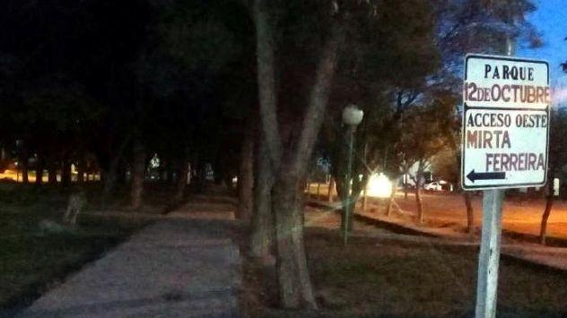 La plaza de Santa Rosa donde murió una nena está casi abandonada