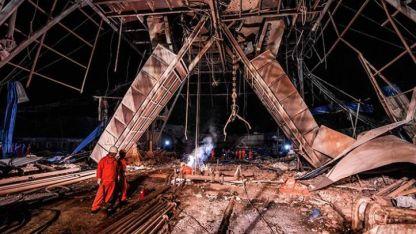 El accidente ocurrió cuando un camión que trasladaba explosivos estalló cerca de la mina/ agencia Xinhua