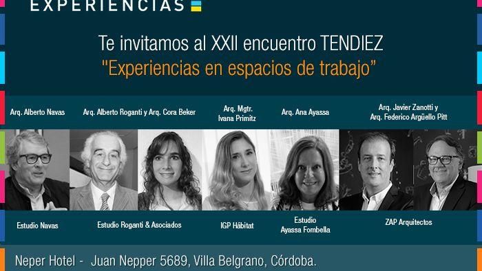 """Tendiez """"Experiencias en espacios de trabajo"""", en Córdoba"""