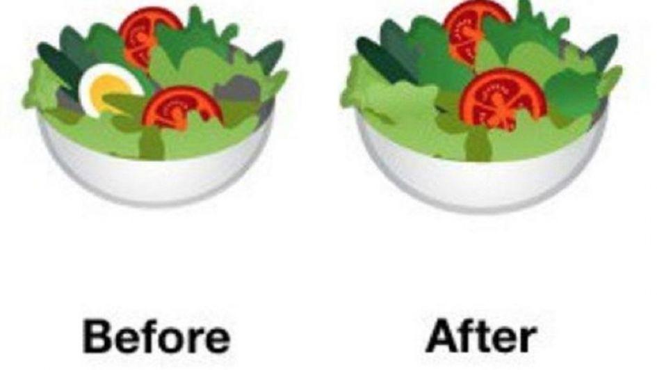 Google se suma a la onda vegana y quita el huevo en el emoji de la ensalada