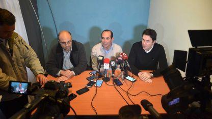 Los legisladores Samuel Barcudi, Javier Molina y Mauricio Sat