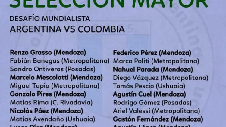 Futsal: Mendoza copa la convocatoria para el desafío mundialista con Colombia