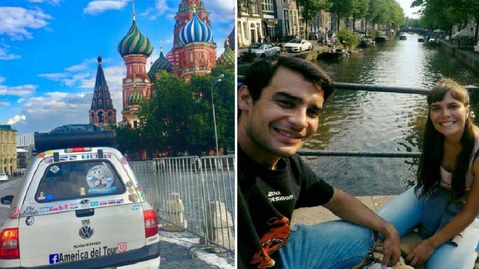 La travesía de dos mendocinos que viajaron en camioneta a Rusia junto a su perro