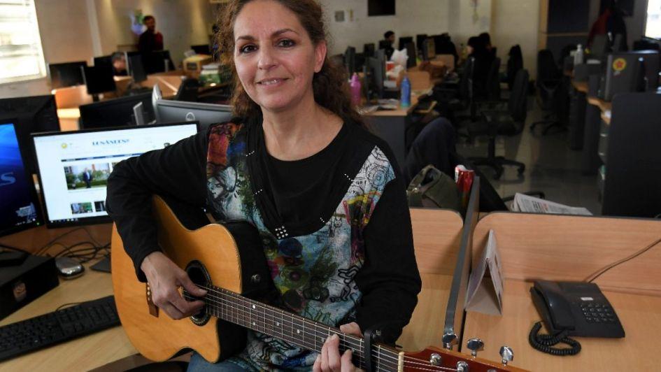 #VivoLA: Mariela Puentes visitó Los Andes antes de participar de