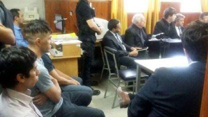 Los hermanos Guerrero, durante una audiencia en los tribunales de Tunuyán.