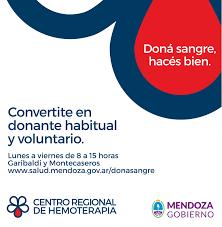 En Mendoza solo el 18% son dadores voluntarios de sangre