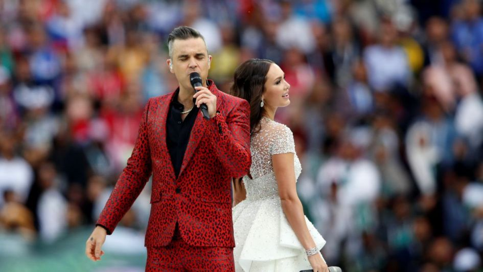 Impecable show de Robbie Williams y Aida Garifullina en la apertura del Mundial