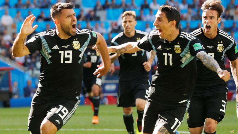El 'Kun' Agüero, autor del gol argentino