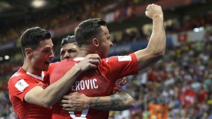 Suiza festejó el empate ante los multicampeones brasileños.