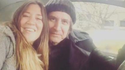 Jimena Barón y su papá