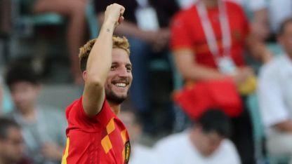 Dries Mertens, autor de uno de los goles de Bélgica en la fecha 1.