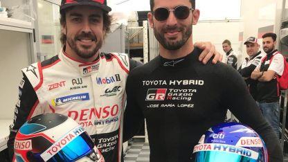 Fernando Alonso y José María López