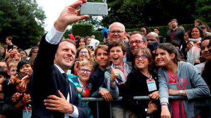 Emmanuel Macron, durante un acto en Francia.