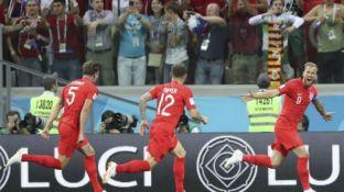 Kane festeja el gol del triunfo inglés.