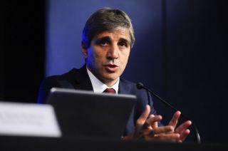 El presidente del Banco Central, Luis Caputo.