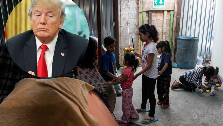 Trump consuela a padres