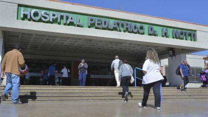 La menor fue trasladada el hospital Notti