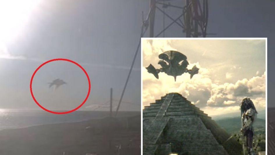 Resultado de imagen para Sorpresa en el cielo por un OVNI similar a la nave de Depredador