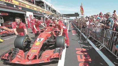La Ferrari del líder del campeonato.
