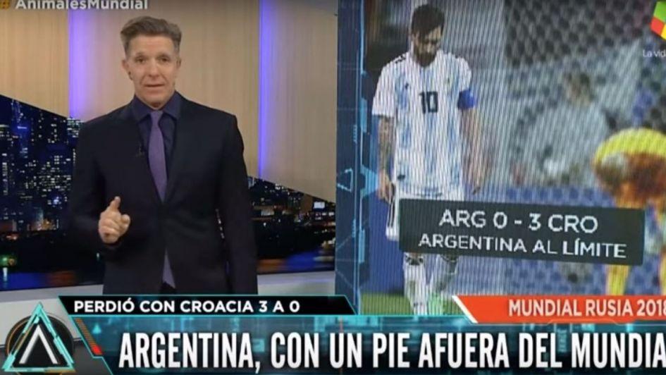 Tras la derrota de Argentina, estalló Fantino