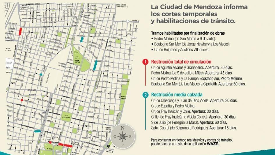 Habilitaron el tránsito vehicular en un tramo de avenida Pedro Molina en Ciudad