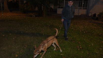 Ricardo Zuppa trabaja en la Fundación Notti y lleva diariamente a su perra Violeta.