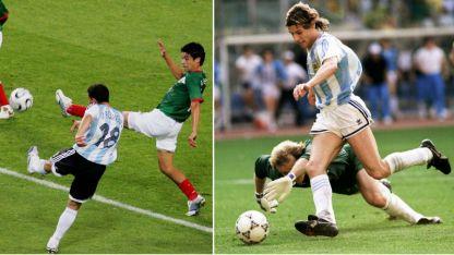 Caniggia y Maxi Rodríguez convirtieron dos de los goles más festejados por los argentinos.