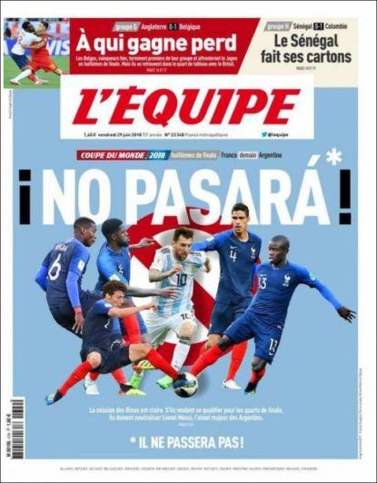 Argentina le empató el partido a Francia