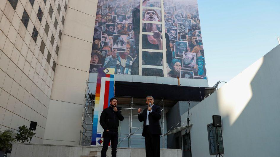 Inauguraron un mural en homenaje a las víctimas del atentado de la AMIA de 1994