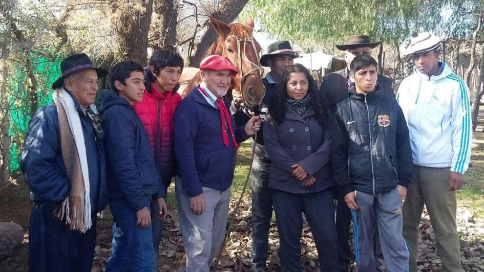 Cabalgata en La Paz por la tragedia de Alpatacal
