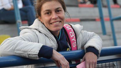 Cecilia Del Carril después de lograr su paso a semifinales donde enfrentará al Bicampeón: Leonardo Murialdo. El lance será el sábado.