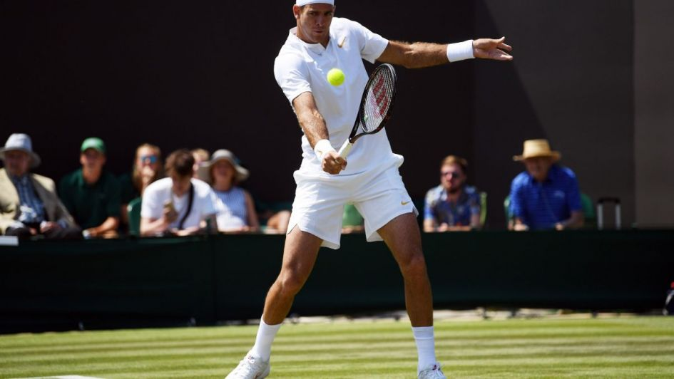 Del Potro derrotó a López y continúa a paso firme en Wimbledon