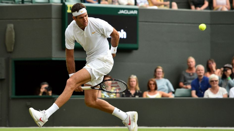 Del Potro aplastó a Feliciano López y sigue firme en Wimbledon