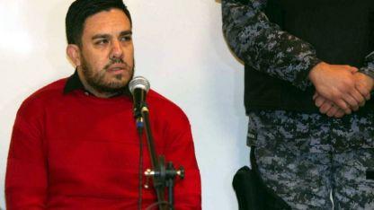 El acusado  Guirín, antes de la audiencia en la que le negaron el juicio abreviado.