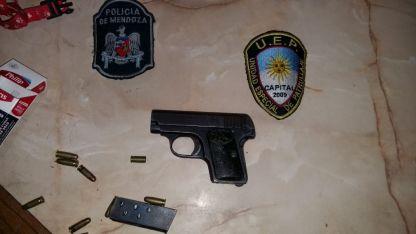 El arma secuestrada.