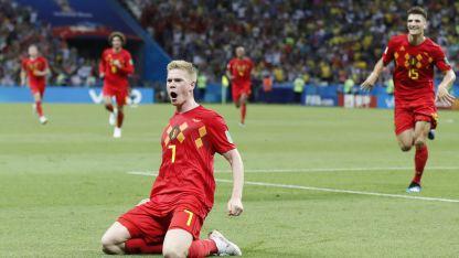 El trabajo de los belgas contra Brasil fue el más elogiado.