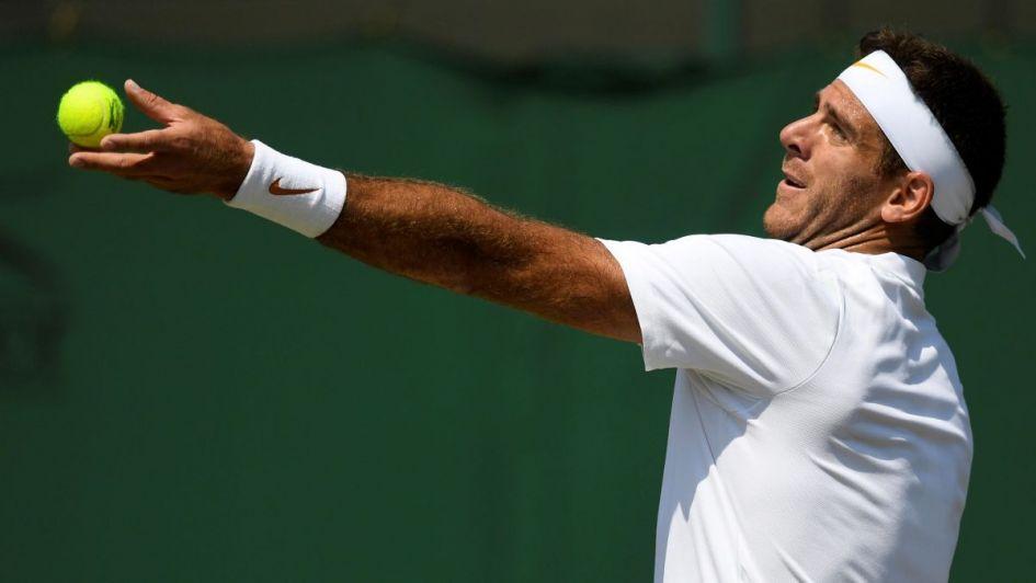 Wimbledon: Del Potro ganó y se mide ante Nadal en cuartos