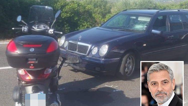 George Clooney fue hospitalizado tras un accidente de moto