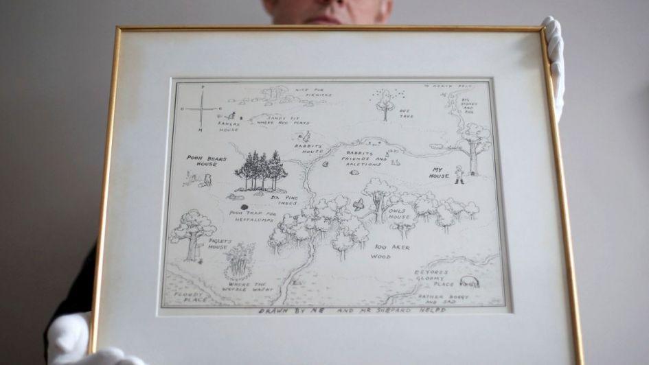 Subastaron el mapa original de Winnie the Pooh por más de $15 millones
