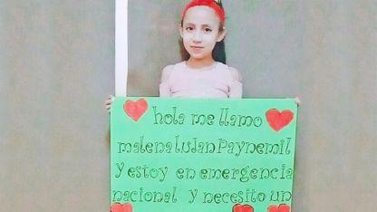 Malena, la neuquina de 8 años que necesita un trasplante de corazón