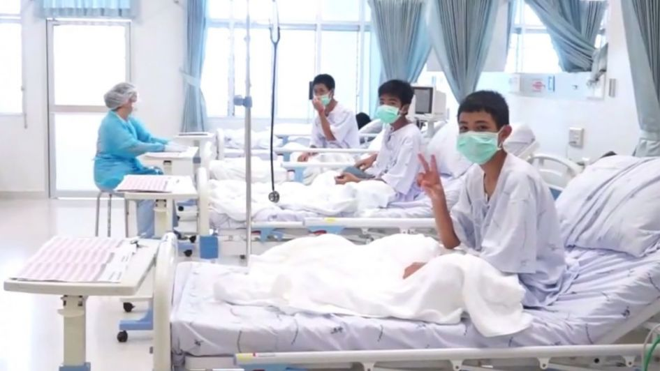 Trascendieron las primeras fotos de los chicos tailandeses en el hospital