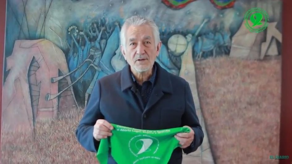 El gobernador de San Luis participó en un video a favor del aborto
