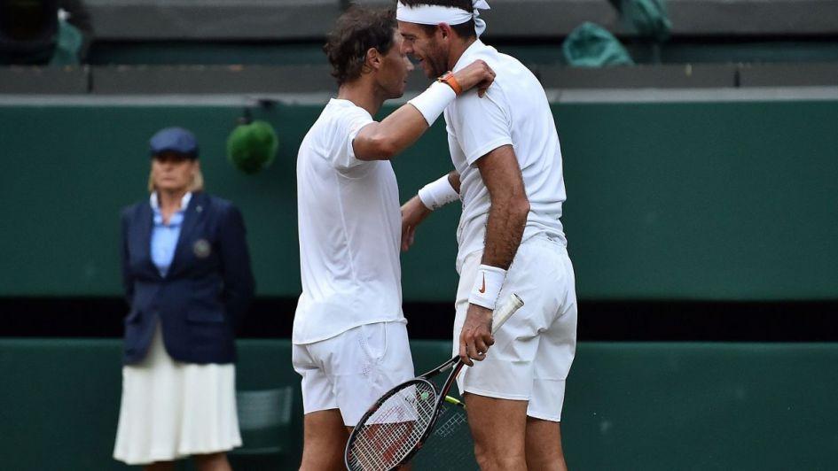 Del Potro y un mensaje emotivo para Rafael Nadal tras la batalla de Wimbledon