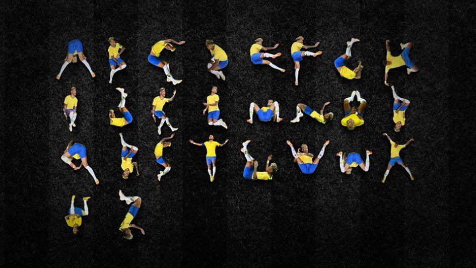 Armaron un abecedario con las simulaciones de Neymar