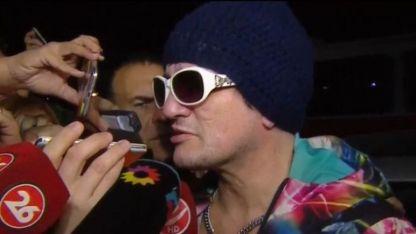Pity Álvarez habló con los medios antes de entregarse.